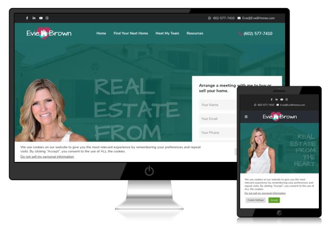 New Evie B Homes Website